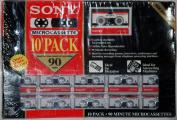 Sony 10-Pack 90-Min Blank Microcassettes 10MC-90B
