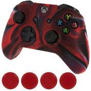 Generic New Silicone Cover Case Skin Controller & Grip Stick Caps for Xbox One