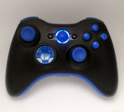 27 Mode Xbox 360 Rapid Fire Wireless Modded Controller With Blue D-pad, Led's, and Thumbsticks