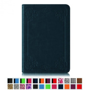 Fintie Folio Case for Kindle Paperwhite - The Book Style PU Leather Cover with Auto Sleep/Wake for All-New Amazon Kindle Paperwhite (Fits 2012, 2013, 2015 and 2016 Versions), Vintage Blue Rose