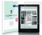 iLLumiShield - Kobo Aura HD e-Reader 17cm Anti-Glare (Matte) Screen Protector HD Clear Film / Anti-Bubble & Anti-Fingerprint / Premium Japanese High Definition Invisible Crystal Shield - Free LifeTime Warranty - [3-Pack] Retail Packaging