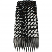 Hair Combs Plastic Hair Slides 12 Pack Of Budget Black Brown Or Clear 7Cm Combs Black