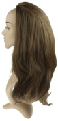 Girly HandBags New Extra Long Reversible Half Head Wig Straight and Flick Style Synthetic 3/4 Piece