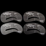 24 Styles Eyebrow Grooming Stencil Kit Template Make Up Shaping DIY Beauty Tools C5-C8