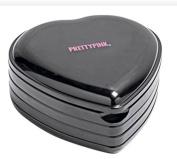 Pretty Pink Heart Shaped Cosmetic Box and Make-Up Set Beaufitul .