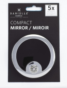 Danielle Creations Hang Sell Crystal Button Compact Mirror, Black 8.5 cm