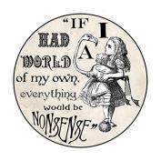 Vintage Alice In Wonderland Inspired Large Pocket Mirror (76mm)