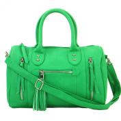 Zarla TOP NEW Ladies Designer Shoulder Bag Faux Leather Barrel Bowler Women Handbag UK