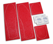 Mens Shoe Sole Bottom Cover for Dress Shoes - Anti Slip Rubberized Pads - Available in Clear Red & Black