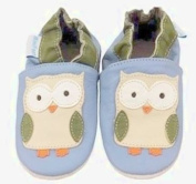 MiniFeet Soft Leather Baby Shoes, Owls 0-6, 6-12, 12-18, 18-24 Months & 2-3 Years