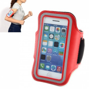 Sports Armbands Case Cover Holder Arm Band for Gym Ridding Bike Cycle Jogging Running Fits iPhone 5 5S 5C 4 4S - Red