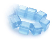 CB Crystalstar Faceted Glass Beads Cube-Shaped 8mm String of 20 Beads 52 carib.blue opal