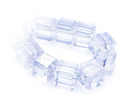 CB Crystalstar Faceted Glass Beads Cube-Shaped 8mm String of 20 Beads 77 l.azore AB