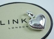 New LINKS OF LONDON Sterling Silver Anniversary Love Heart Sweetie Charm 5030.1891