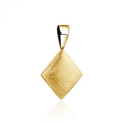 Bold and simple, 925 sterling silver diamond shape Pendant with Gold plated Ice finish.