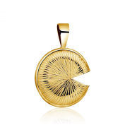 Bold and simple, 925 sterling silver Lotus leaf shape Pendant with Gold plated finish.