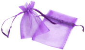 Click Down 48pcs Purple Organza Drawstring Pouches Jewellery Party Wedding Favour Gift Bags 10*13cm