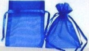 Click Down 120pcs Blue Organza Drawstring Pouches Jewellery Party Wedding Favour Gift Bags 8*11cm