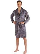 Mens/Gentlemens Nightwear/Sleepwear Satin Printed Bath Robe With Pockets, Various Colours & Sizes