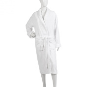 Ladies Plain Towelling Dressing Gown 100% Cotton Wrap Around Bath Robe S/M or L/XL
