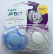 Philips Avent Free Flow Soother Twin Pack 0-6m