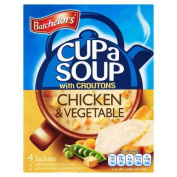 Batchelors Cup a Soup with Croutons Chicken & Vegetable 4 Sachets 110g Case of 9