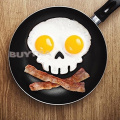 leading star NEW Convenient Practical Funny Side Up Skull Silicone Egg Art Mould Breakfast Mould Frame