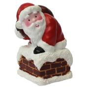 Anniversary House : Santa Climbing Down the Chimney Christmas Cake Topper