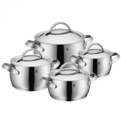 WMF 4-Piece 18/ 10 Stainless Steel Concento Cookware Set, Silver