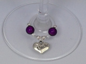 Individual ' Uncle ' Wine Glass Charm by Libby's Market Place