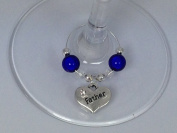 Individual ' Father ' Wine Glass Charm by Libby's Market Place