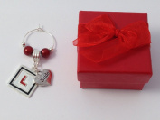 Handmade Bride - Hen Party Wine Glass Charm with L Plate Charm comes in a Gift Box by Libby's Market Place