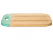 PT Kitchen Dip It Rubberwood Bread Board Mint Green