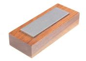 Eze-Lap 2.5cm x 7.6cm Coarse Grit Diamond Bench Stone (250) on a Walnut Pedestal