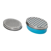 2 X Cheese Grater With Storage Container and Lid