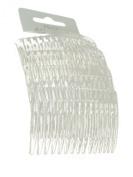 Set of 4 Clear Plain Hair Combs Slides 7cm