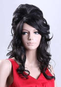 Forever Young Amy Winehouse Wig Rehab Ladies Black Wig Beehive 60's Fancy Dress Party Wigs