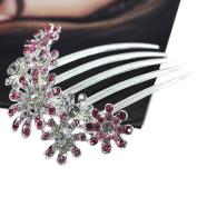 Women's Crystal Rhinestone Tuck Comb Flower Hair Pin