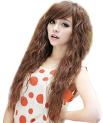 NuoYa005 New Womens Fashion Sexy long Full Curly Wavy Hair Wigs Cosplay Party Light Brown