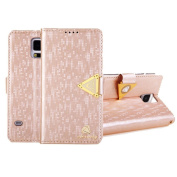 Atdoshop(TM) 1PC Luxury Leather Flip Wallet Cover Case For Samsung Galaxy S5 i9600