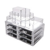 Makeup Cosmetic Clear Acrylic Organiser Organiser Display w Drawers #119