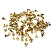 100PCS Metal Punk Cone Nail Art Spikes Bullet Stud Studded Decoration DIY Decor
