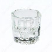 Crystal Glass Cup for Arcylic Nail Art Liquid Powder