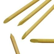"""Wooden manicure sticks / cuticle pusher 6"""" / 150mm long - Pack of 100"""