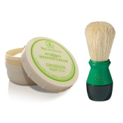 Taylor of Old Bond Street Avocado Shaving Cream Jar with FREE Pure Bristle Shaving Brush