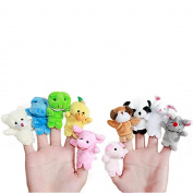 10 pcs Finger Animal Hand Puppet Play Learn Story Toy