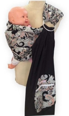 Palm and Pond Ring Sling - Black Paisley