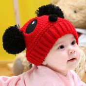 HuntGold Cute Baby Girl Boy Winter Warm Panda Shape Knitted Wool Crochet Beanie Hat Cap