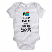The Classic Image Company Keep Calm And Go To South Africa - South African / Fun Themed Baby Grow / Suit