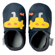 Bobux BBG 4162 Baby Shoes with Giant Submarines Design Blue / Yellow